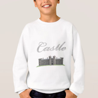 Classic British Castle with Castle Text Sweatshirt