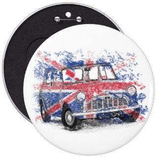 Classic British Mini 6 Inch Round Button