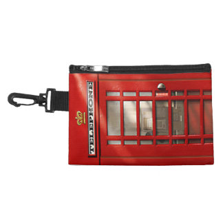 Classic British Red Telephone Box Accessory Bag