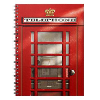 Classic British Red Telephone Box Notebook