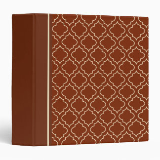 Classic Brown and Cream Pattern Binder