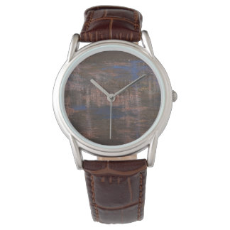 Classic Brown Leather Designer Watch