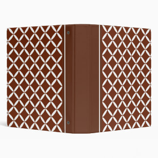 Classic Brown Pattern Binder