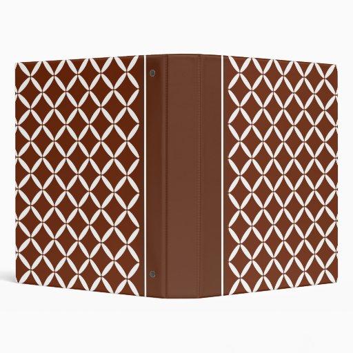 Classic Brown Pattern Binder