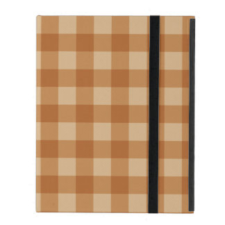 Classic brown plaid checkered cloth cases for iPad