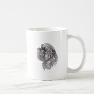 Classic Brussels Griffon  Dog profile Drawing Coffee Mug