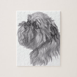 Classic Brussels Griffon  Dog profile Drawing Jigsaw Puzzle