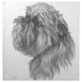 Classic Brussels Griffon  Dog profile Drawing Napkin