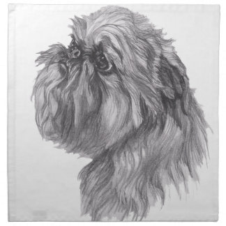 Classic Brussels Griffon  Dog profile Drawing Napkins