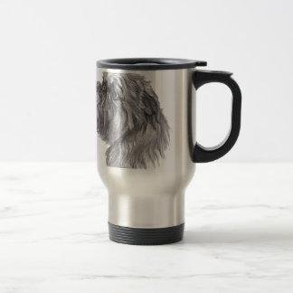 Classic Brussels Griffon  Dog profile Drawing Travel Mug