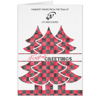 Classic Buffalo Plaid Christmas Business Card