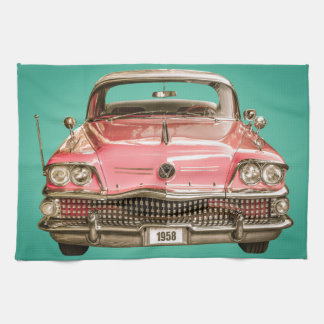 Classic Buick 1958 Century Car Kitchen Towel