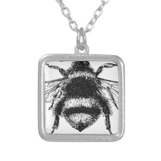 Classic Bumble Bee Silver Plated Necklace