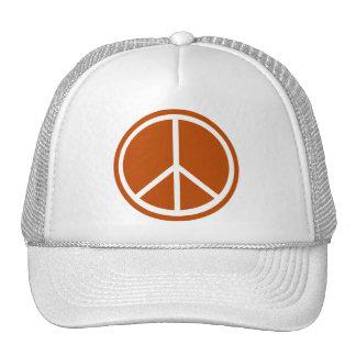 Classic Burnt Orange Peace Sign Trucker Hat