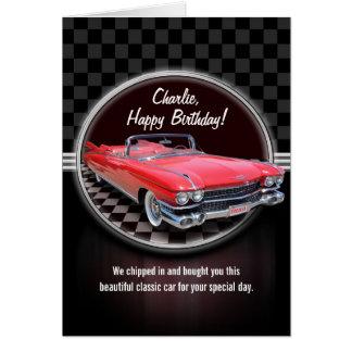CLASSIC CADILLAC Birthday Card