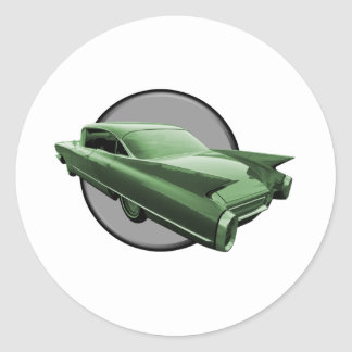 Classic Cadillac Round Sticker
