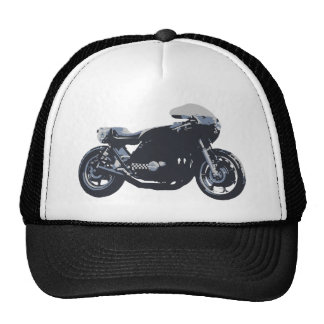 Classic Cafe Racer Motorcycle Trucker Hat