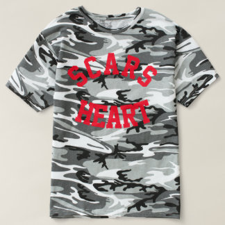 Classic camo tee with college print.