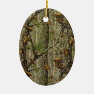 Classic Camouflage Ceramic Oval Ornament