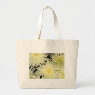 Classic Canvas Bag, Chrysanthemums Like Stars Large Tote Bag