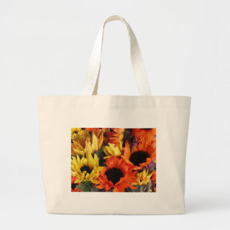 Classic Canvas Bag with Sunflowers