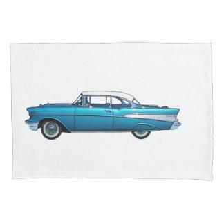 Classic car 1957 Chevy BelAire custom pillowcase