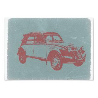 "Classic Car 3.5"" X 5"" Invitation Card"