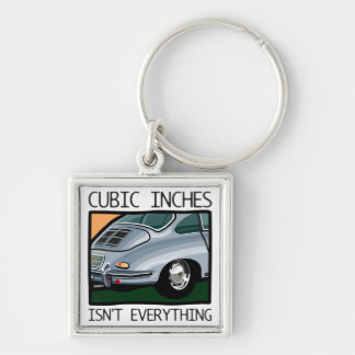 Classic car: Air-cooled 356 more than cubic inches Silver-Colored Square Keychain