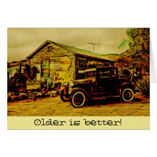 Classic Car Antique Vintage Model Anniversary Card