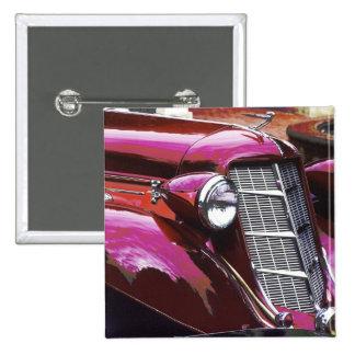 Classic car: Auburn 2 Inch Square Button