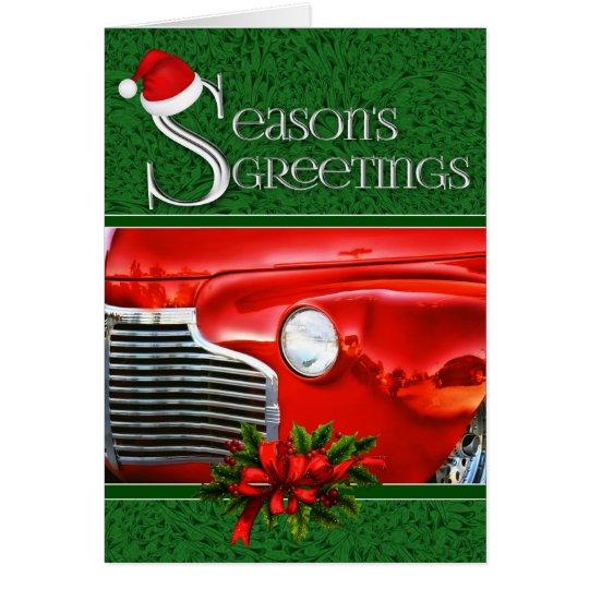 Classic Car | Automotive Christmas | Custom Card