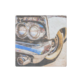 Classic Car Beauty Stone Magnets