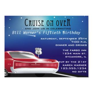 "Classic Car Birthday Party Invitation 5.5"" X 7.5"" Invitation Card"
