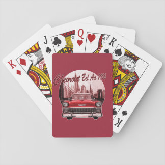 Classic Car Chevrolet Bel Air 1956 Playing Cards