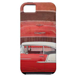 Classic Car Chevy Bel Air Red Vintage Oldtimer iPhone 5 Covers
