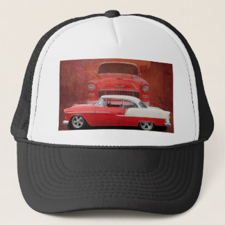 Classic Car Chevy Bel Air Red White Vintage Dodge Trucker Hat