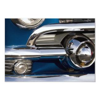 "Classic Car Chrome Closeup 3.5"" X 5"" Invitation Card"