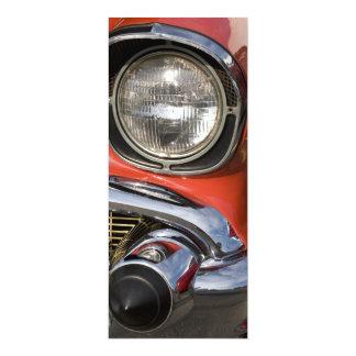 "Classic Car Chrome Parts and Headlight 4"" X 9.25"" Invitation Card"