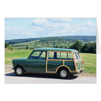 Classic Car Countryside Card