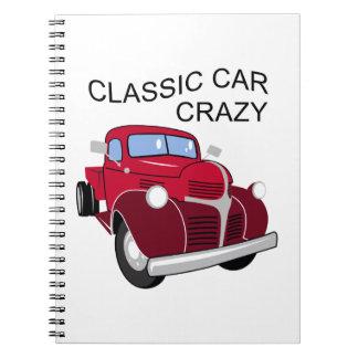 Classic Car Crazy Note Books