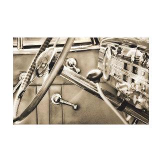 Classic Car Dashboard Canvas Print