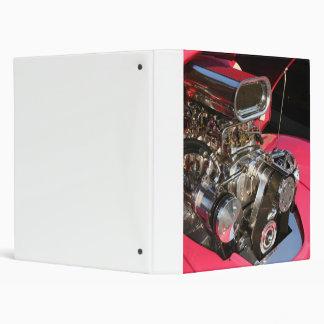 classic car engine 3 ring binder