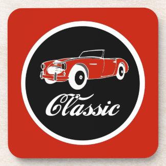 Classic Car Fifties Convertible Retro Drink Coaster