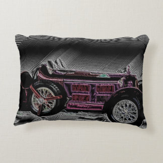 Classic car from Italy - digital Work Decorative Pillow
