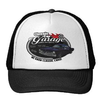 Classic Car Garage with Pontiac Trucker Hat