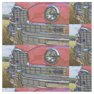 Classic car grille as art cotton fabric