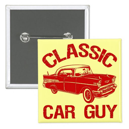 Classic Car Guy Button