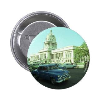 Classic Car Havana Cuba Buttons