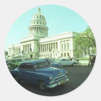 Classic Car Havana Cuba Classic Round Sticker