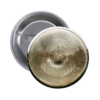 Classic car headlamp with round clear glass lens 2 inch round button
